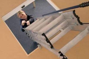 Abru Easy Stow Loft Ladder Operation