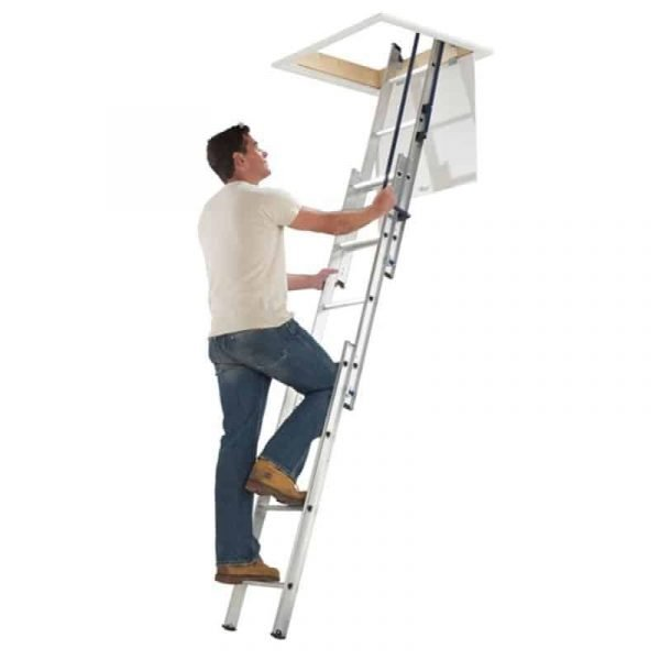 Werner Easy Stow Spring Assisted Aluminium Loft Ladder