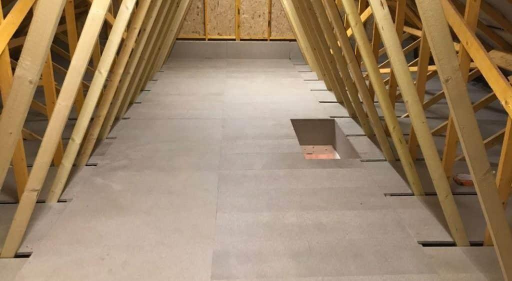 New home loft flooring for storage