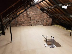 Older home loft flooring